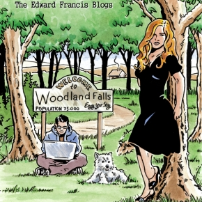 Alana Rose: the Edward Francis Blogs book cover, ink and watercolour, 2011