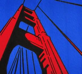 Bridge, ink and gouache, 1999