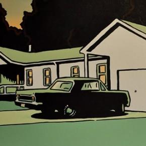 Suburban Street at Dawn, acrylic on canvas, 2004
