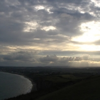 I think thats the view back to Shanklin