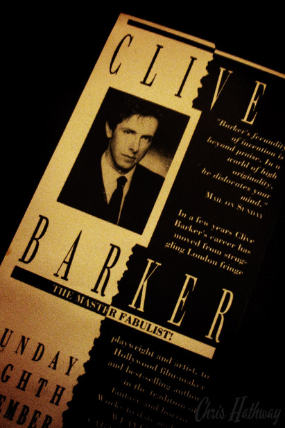 Clive Barker at the Midlands Art Centre, Birmingham