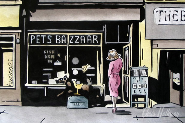 Pets Bazzaare, Breck Road, Liverpool 5 Ink & Watercolour