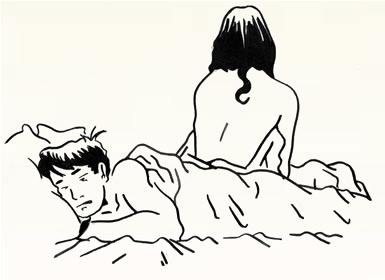 Sleeping line illustration