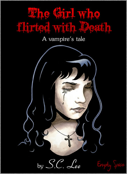 The Girl who flirted with Death cover illustration