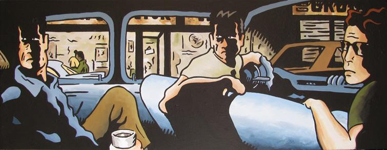 Extra width, 32 x 12 in acrylic, 2010