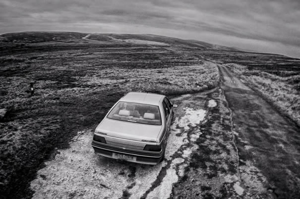 Roadside 14-1-15 - Peugeot 405, High Peak
