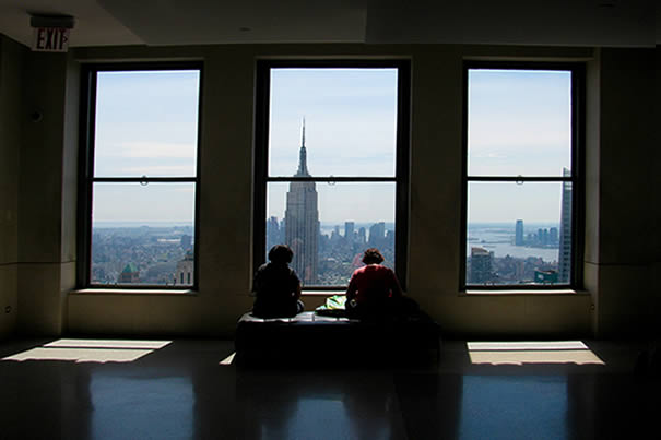 Empire State Building from 30 Rockefeller Plaza