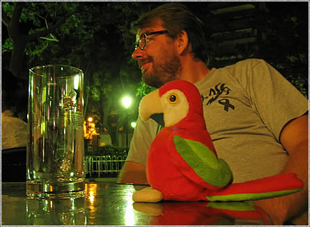 Martina the Parrot with myself.