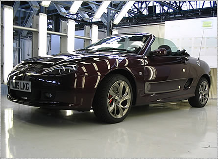 MG TF 85th Anniversary, press car