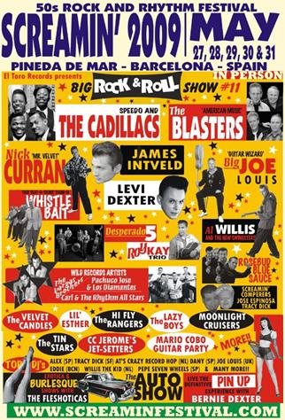 2009 Screamin Festival Poster